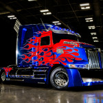 Optimus Prime Truck from Transformers 4 Age of Extinction to attend TFcon Charlotte