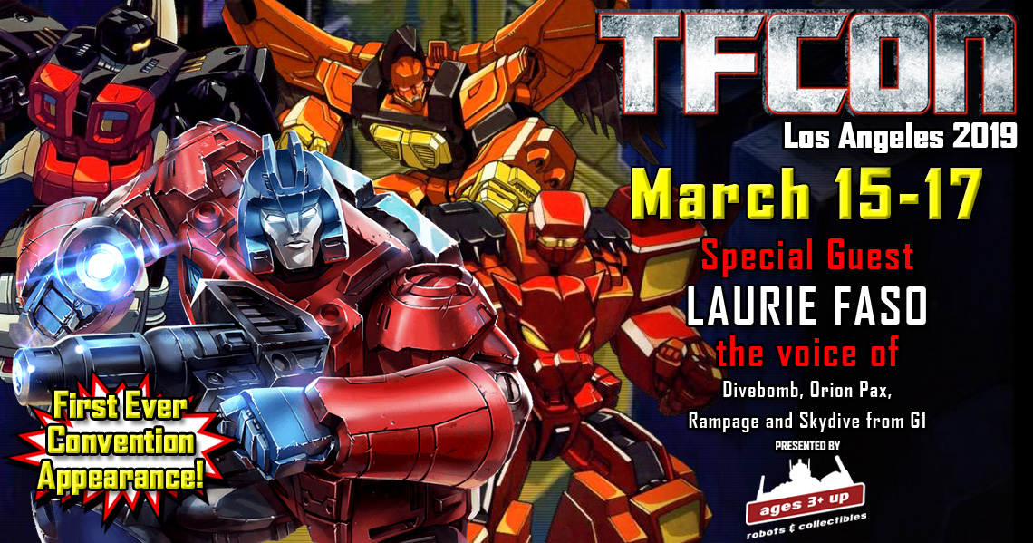 Transformers voice actor Laurie Faso joins the G1 Reunion at TFcon Los Angeles 2019