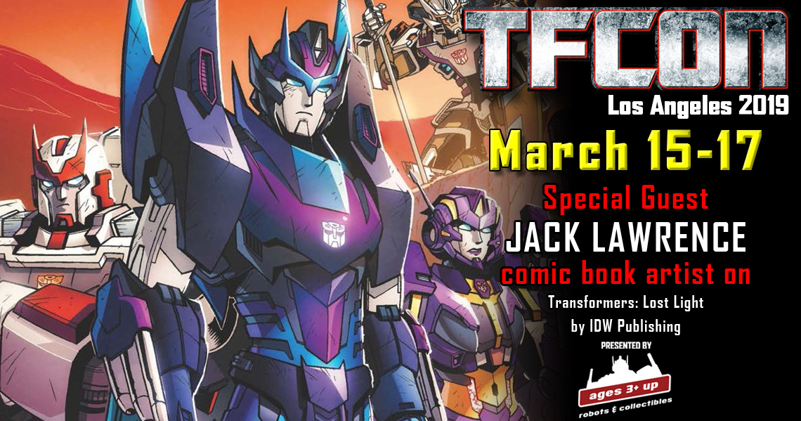 Transformers Artist Jack Lawrence to attend TFcon Los Angeles 2019