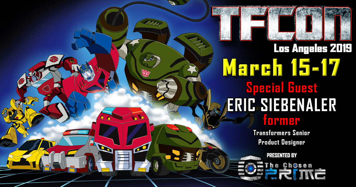Transformers Designer Eric Siebenaler to attend TFcon Los Angeles 2019