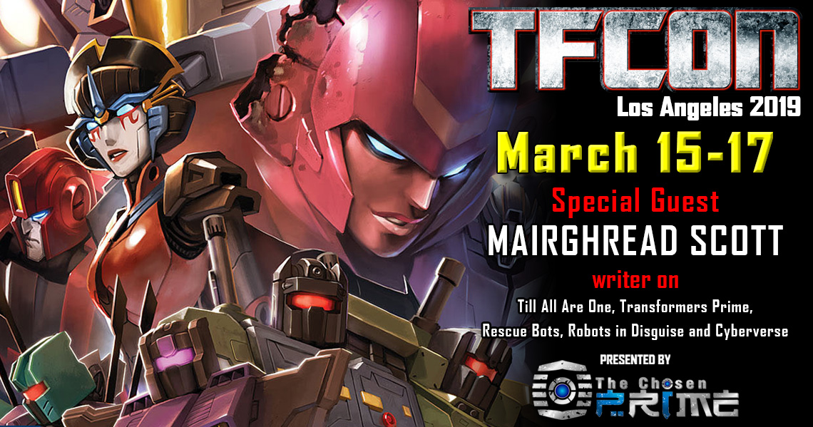 Transformers writer Mairghread Scott to attend TFcon Los Angeles 2019