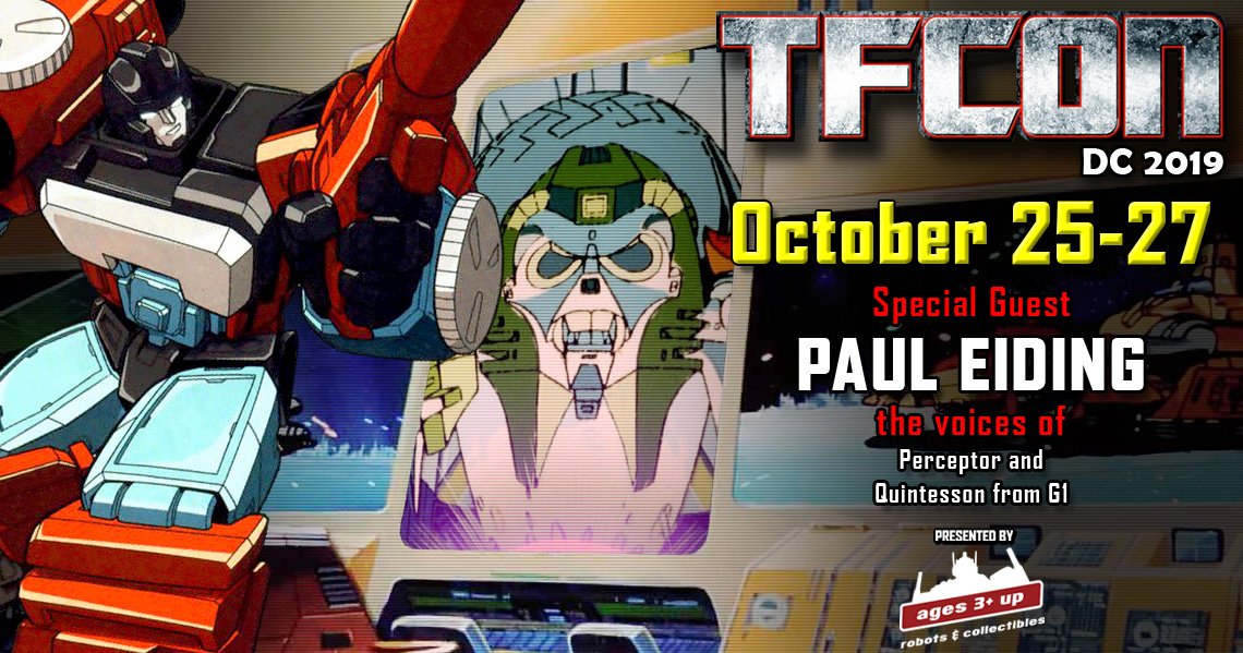 Transformers voice actor Paul Eiding to attend TFcon DC 2019