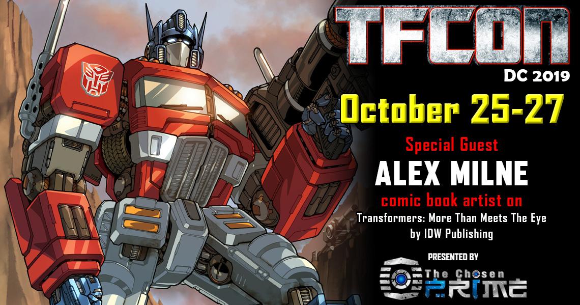 Transformers Artist Alex Milne to attend TFcon DC 2019