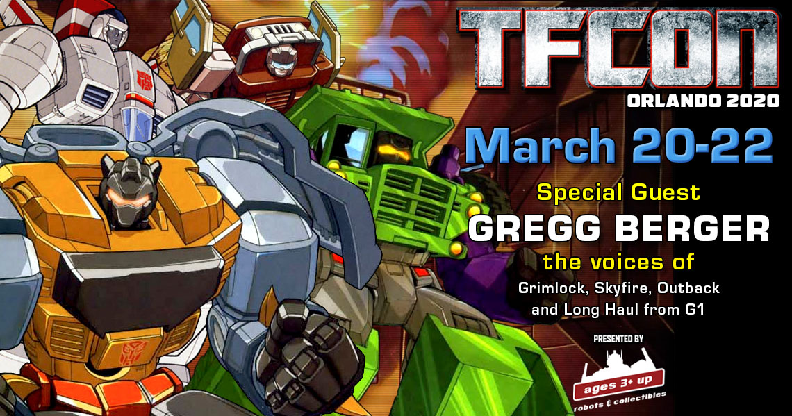 Transformers voice actor Gregg Berger to attend TFcon Orlando 2020