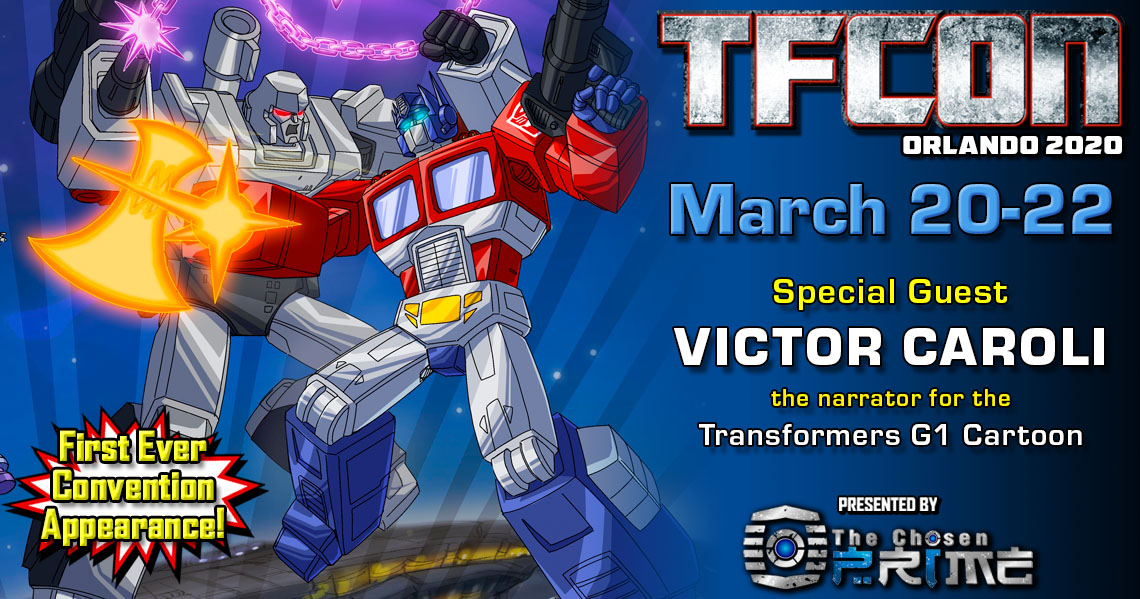 Transformers Narrator Victor Caroli to attend TFcon Orlando 2020