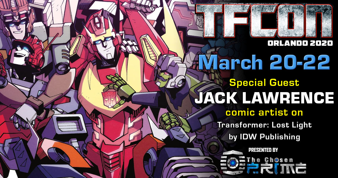 Transformers Artist Jack Lawrence to attend TFcon Orlando 2020