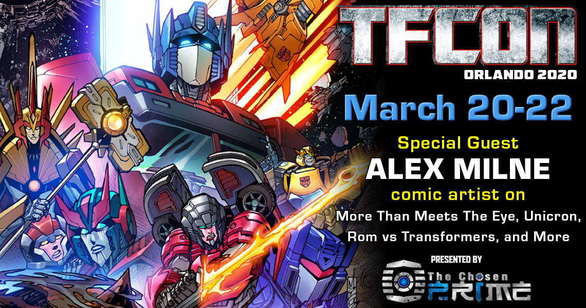 Transformers Artist Alex Milne to attend TFcon Orlando 2020