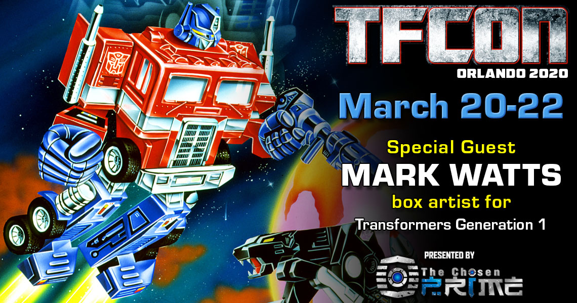 Transformers Box Artist Mark Watts to attend TFcon Orlando 2020