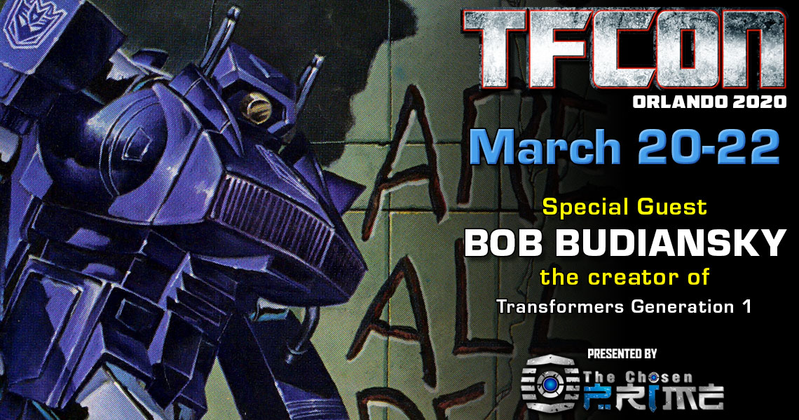 Transformers creator Bob Budiansky to attend TFcon Orlando 2020