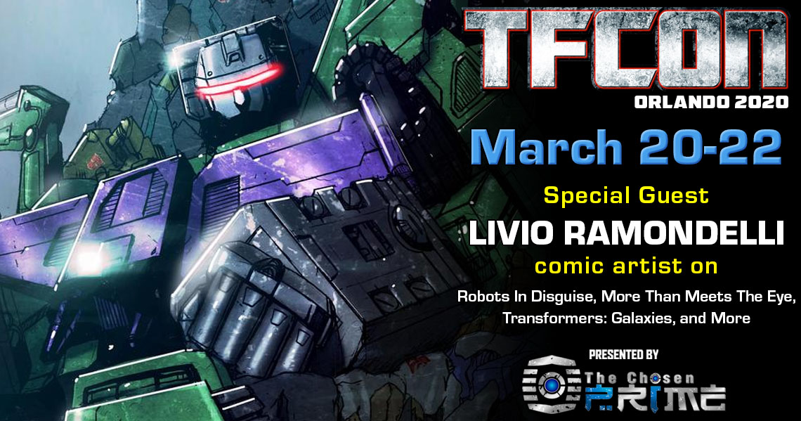 Transformers Artist Livio Ramondelli to attend TFcon Orlando 2020