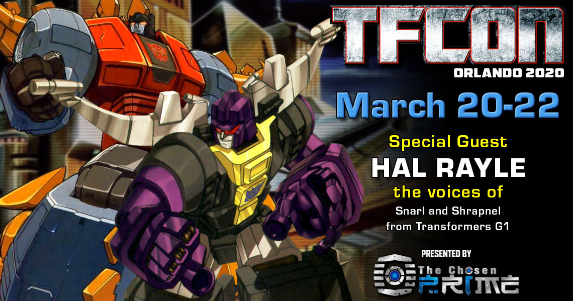 Transformers voice actor Hal Rayle to attend TFcon Orlando 2020