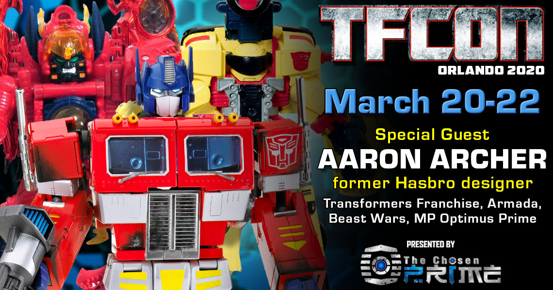 Transformers designer Aaron Archer to attend TFcon Orlando 2020